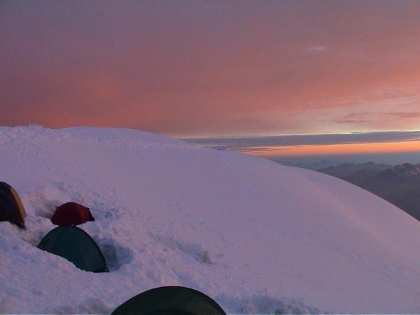 Svítání na Gouteru podruhé. Moje oblíbená fotka.