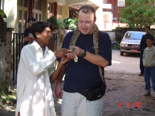 Kobra byla vysloveně přítulná, hned jsme se zkamarádili.