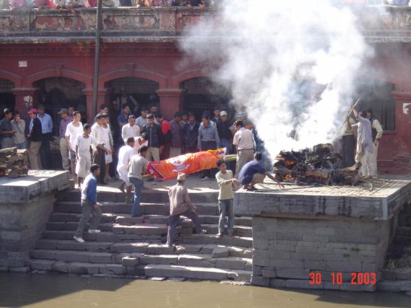 Pashupathinath je místem pohřbů ...