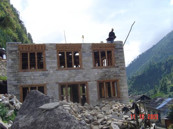 Rozvíjející se výstavba v oblasti Khumbu.