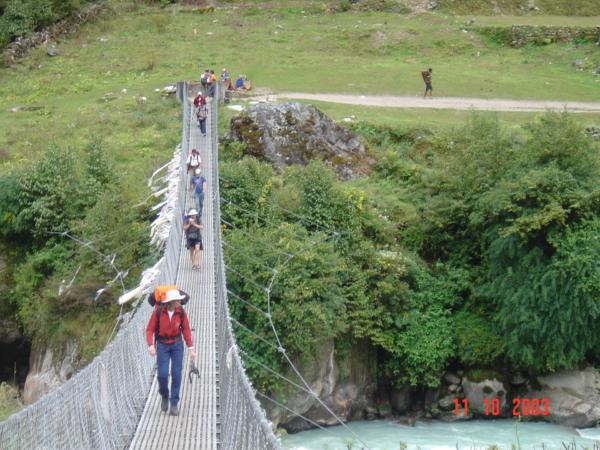 Detail upevnění mostu.