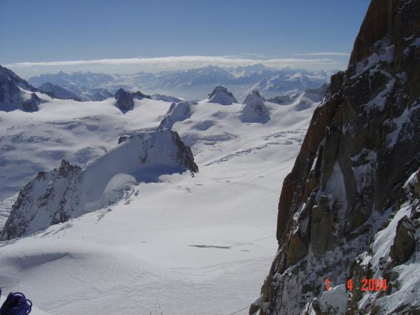 Výhled na začátek Vallé Blanche.