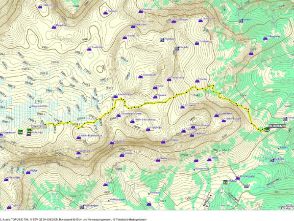 Naše výstupová trasa z GPSky.