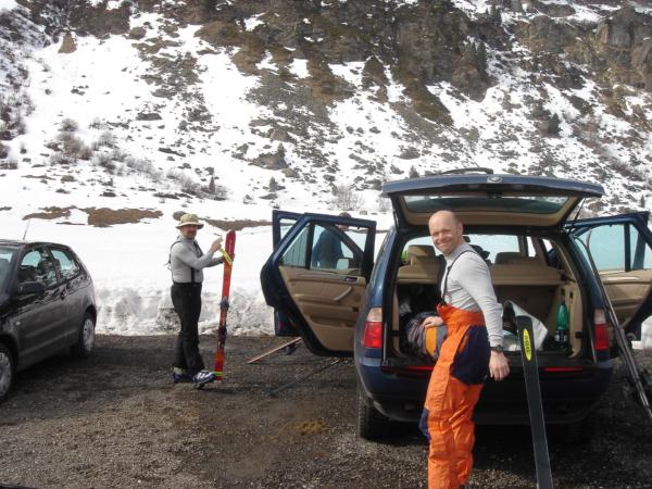 Z Obergurglu jsme vyrazili okolo 14,30 a šlapeme vzhůru.