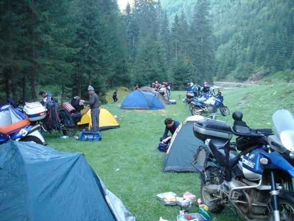 Jeden z romantických noclehů v horách - pohoří Rodna.