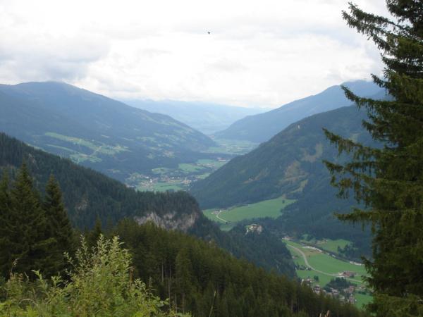 Pohled do údolí Salzachu.