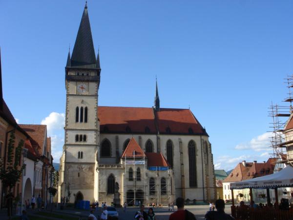 Kostel na náměstí v Bardejove