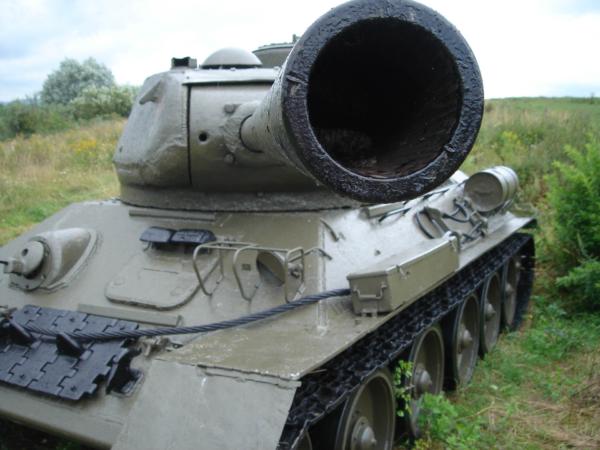 Tanky jsou pečlivě udržované...