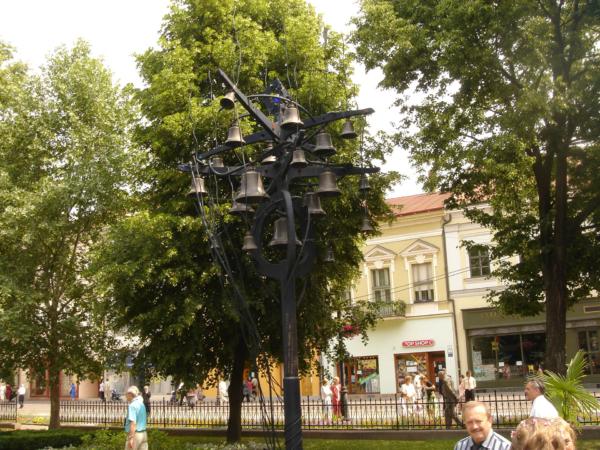 Zvonkohra v košickém central parku.