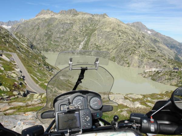 Pohled z motorky.