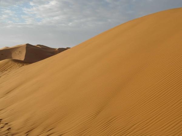 Duny - v pozadí prý nejvyšší duna v Africe - 150m vysoká