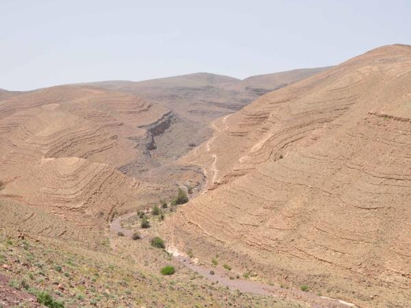 Údolí řeky Draa směrem na Ouarzazate