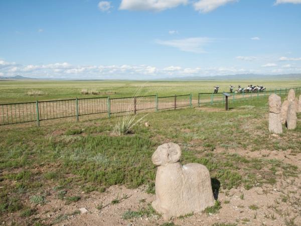 Kamenné figury - nazývají se Ongon Stones.