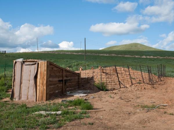 Lednička v kempu na mongolský způsob.