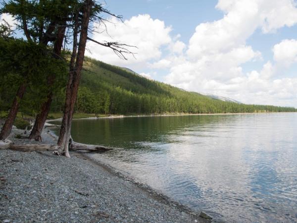 Vyjížďka okolo jezera při odpočinkovém dni.