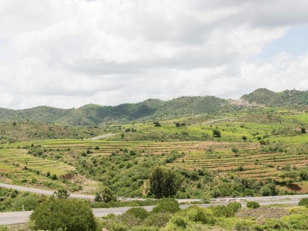 Pohled na krajinu v okolí Konso.