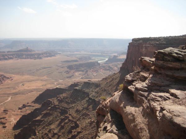 První pohled na řeku Colorado.
