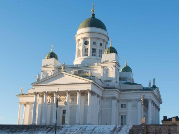 Poté jsme dorazili k helsinské katedrále.