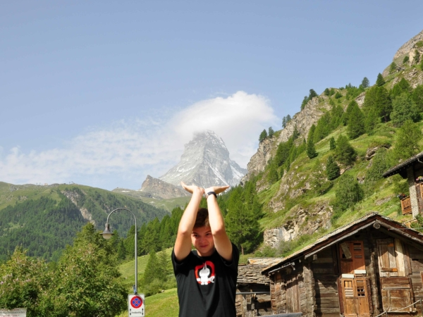 Matternhorn - jako obvykle - vrchol v mracích.