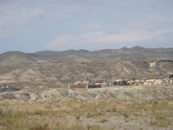 Pohled na westernové městečko Mini Hollywood,