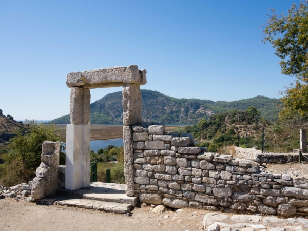 Ruiny města Kaunos.