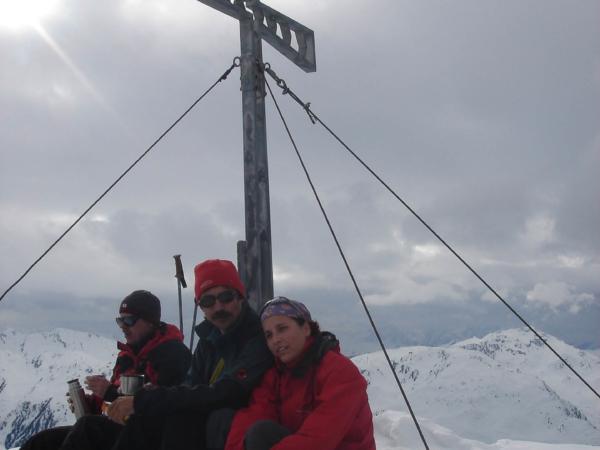 Na vrcholu Schafsiedlu 2440m.