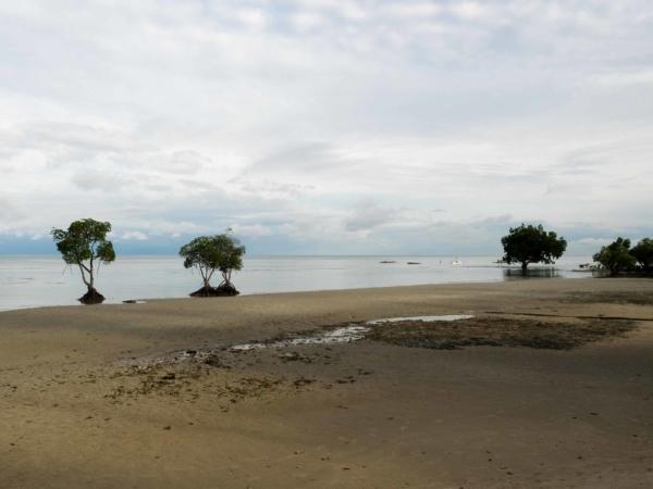 Pláž u hotelu Microtel, kde jsme na Palawanu bydleli.