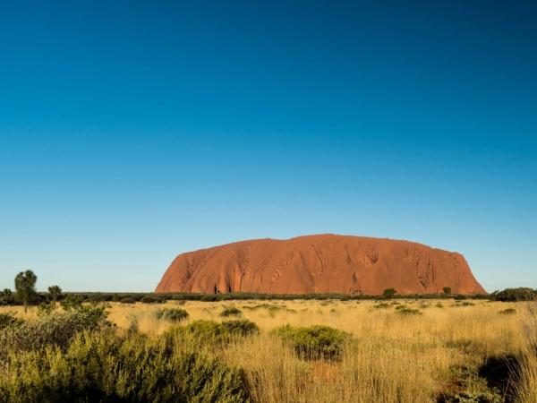 Poslední pohled na Uluru a jedeme dál.