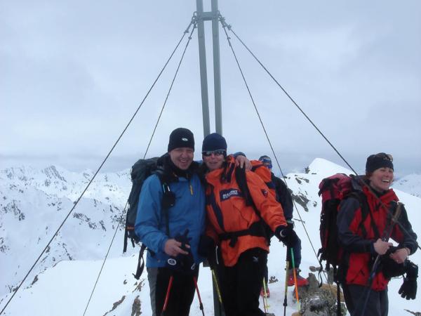 Na vrcholu Salzachgeieru 2460m, povinné vrcholové foto.