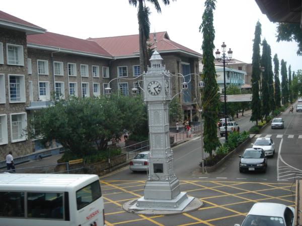 V centru hlavního města Seychel - Victorie.