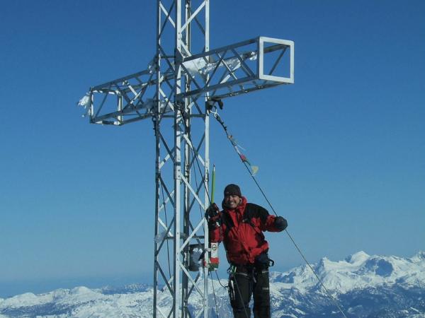 Petr na vrcholku Hoher Dachsteinu (2995m)