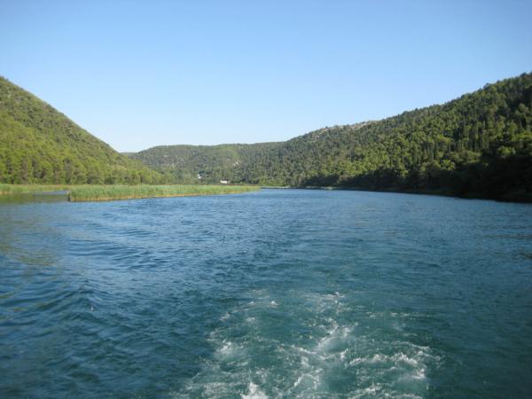 Opouštíme NP Krka a vracíme s k naší lodi do Skradinu.