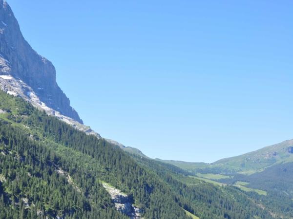 Severní stěna Eigeru a pohled k Kleine Scheideggu