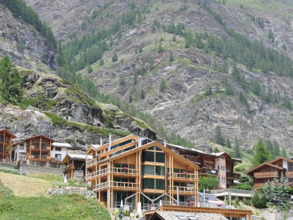 Stavby v Zermattu.