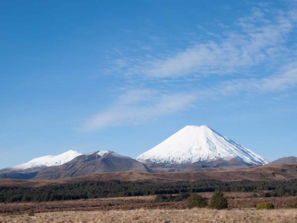 Mount Ngauruhoe. Je prostě hrozně fotogenická.