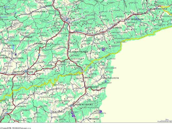 Záznam projeté trasy.