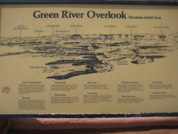 Na vyhlídce zvané Green River Overlook