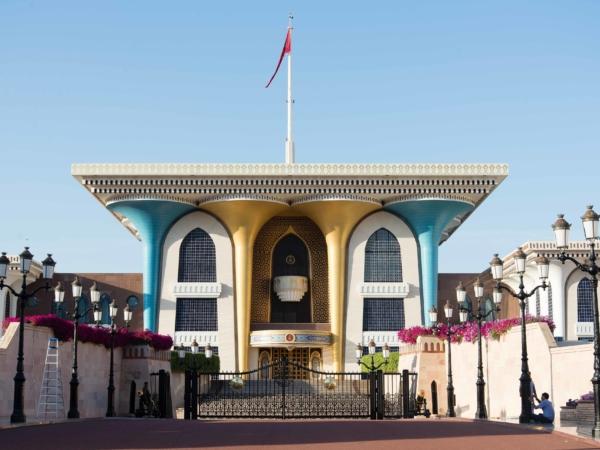 Sultánův ceremoniální palác Al Alam.