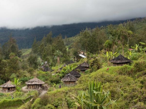 Pohled na část vesničky Paliem.