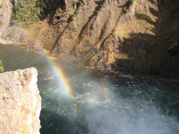 A nad vodopádem duha...