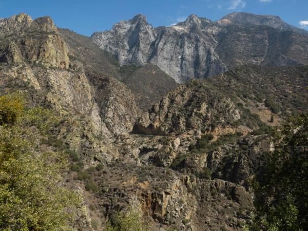 Údolí národního parku Kings Canyon.