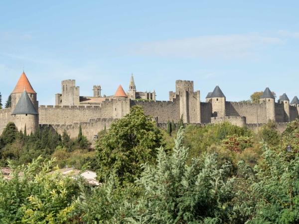 Město-hrad Carcassonne.