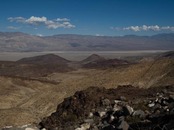 Pohled na údolí smrti.