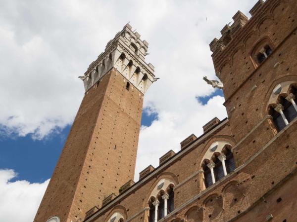 Palazzo Pubblico a jeho věž Torre del Mangia.