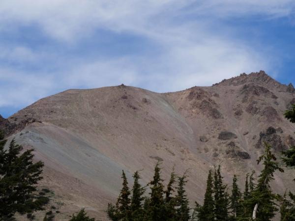 Mount Lassen - výstupová trasa.