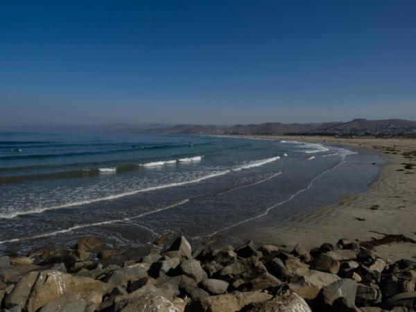 Pláž v Morro Bay.