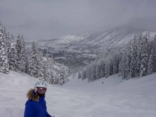 V skiareálu