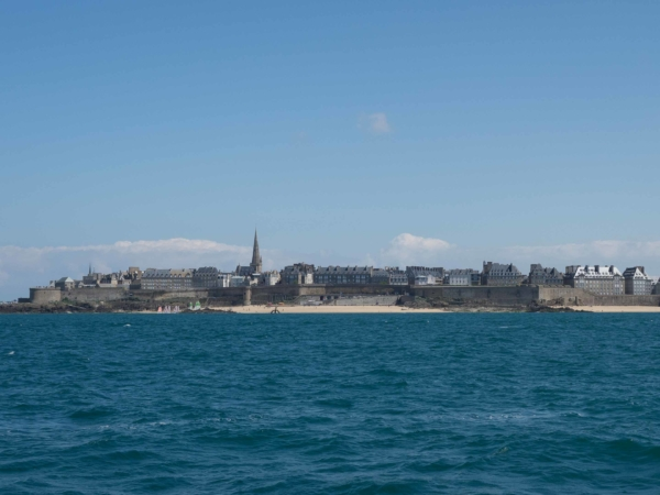 Staré město v Saint Malo.