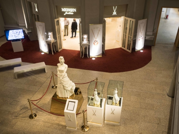 V muzeu míšenského porcelánu...
