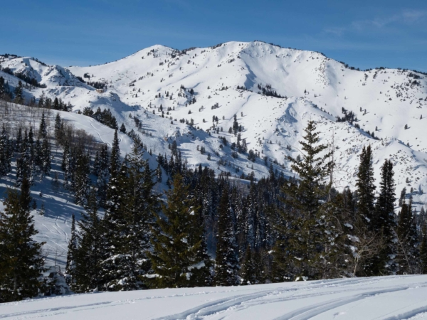 Na obzoru James Peak.